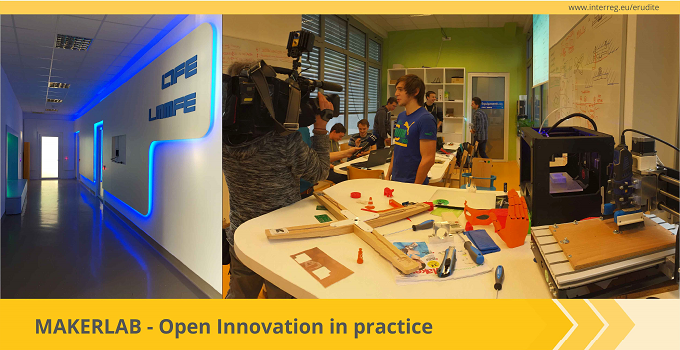 The Interreg Europe newsletter presents ERUDITE and MakerLab as an example of good practice