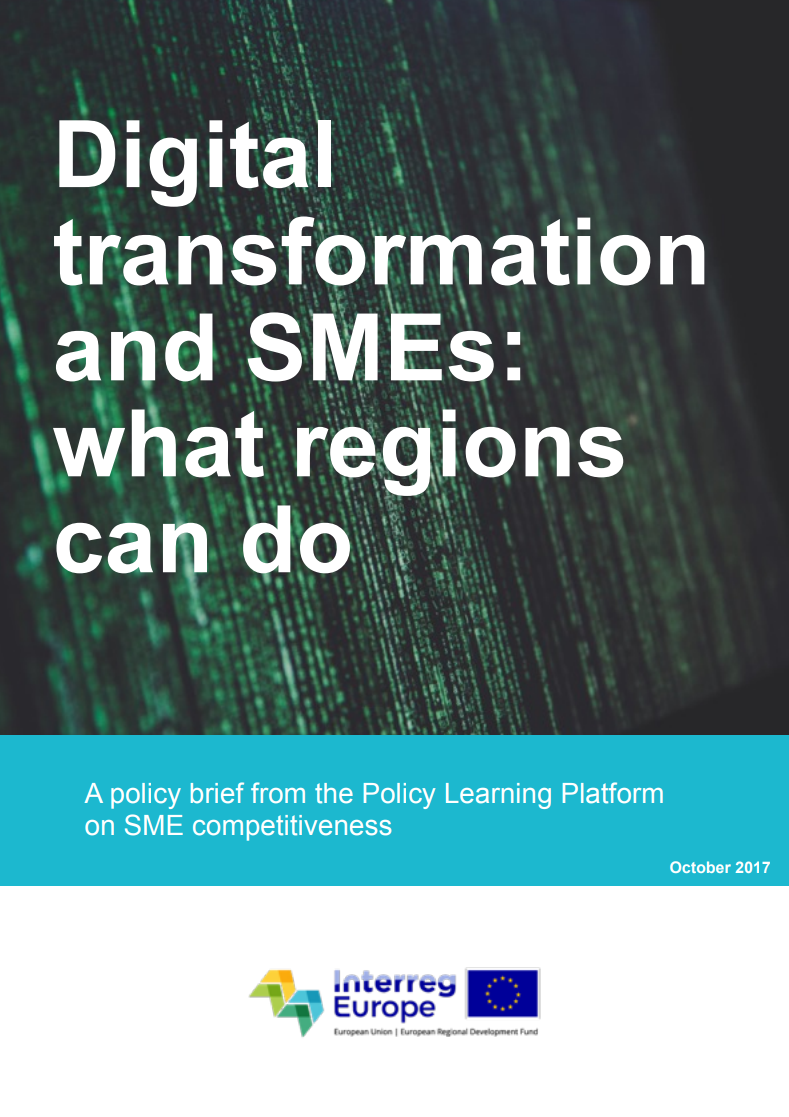 Project ERUDITE mentioned in paper Digital transformation and SMEs: what regions can do