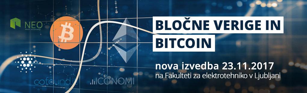 Bločne verige in bitcoin – nova izvedba 23.11.2017