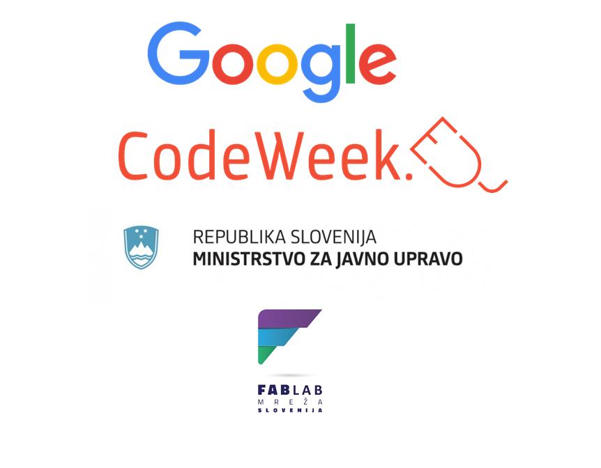 Dogodek Everyone can code and be creative podpirata Google in Ministrstvo za javno upravo RS
