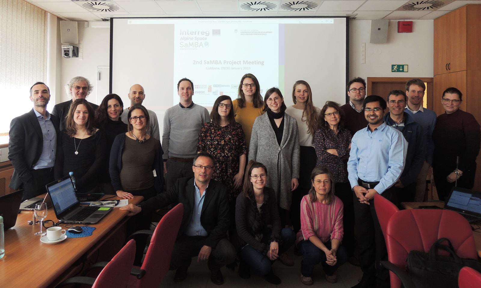 Na Fakulteti za elektrotehniko je potekal sestanek projekta SaMBA (Interreg Območje Alp)
