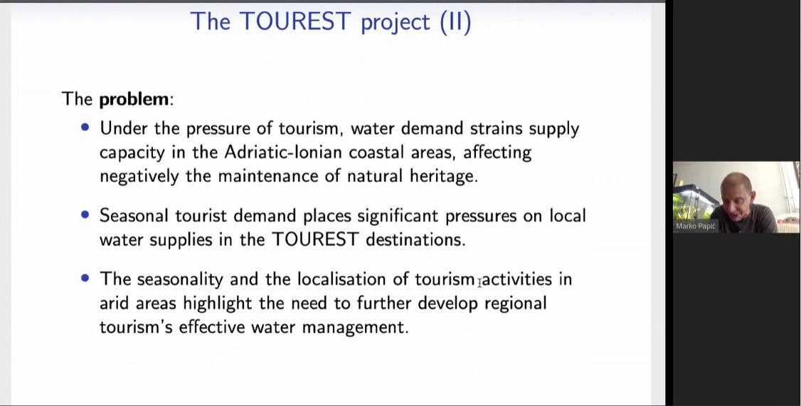 Interreg Adrion TOUREST project workshop