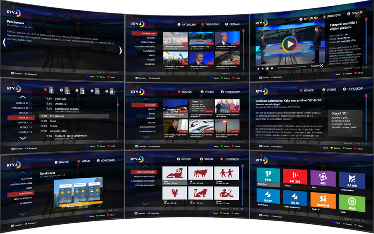 Interactive Hbbtv Application RTV4D