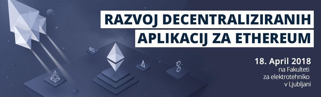 Razvoj aplikacij za blokovno verigo Ethereum – prva delavnica že 18.4.2018