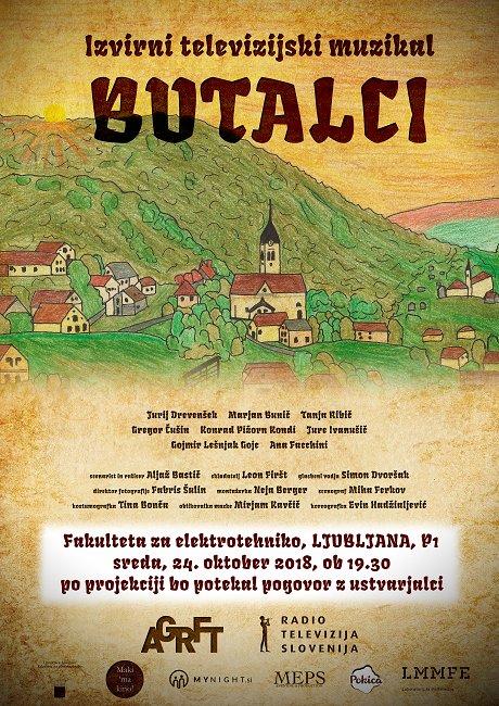 Premiera TV muzikala Butalci v Ljubljani