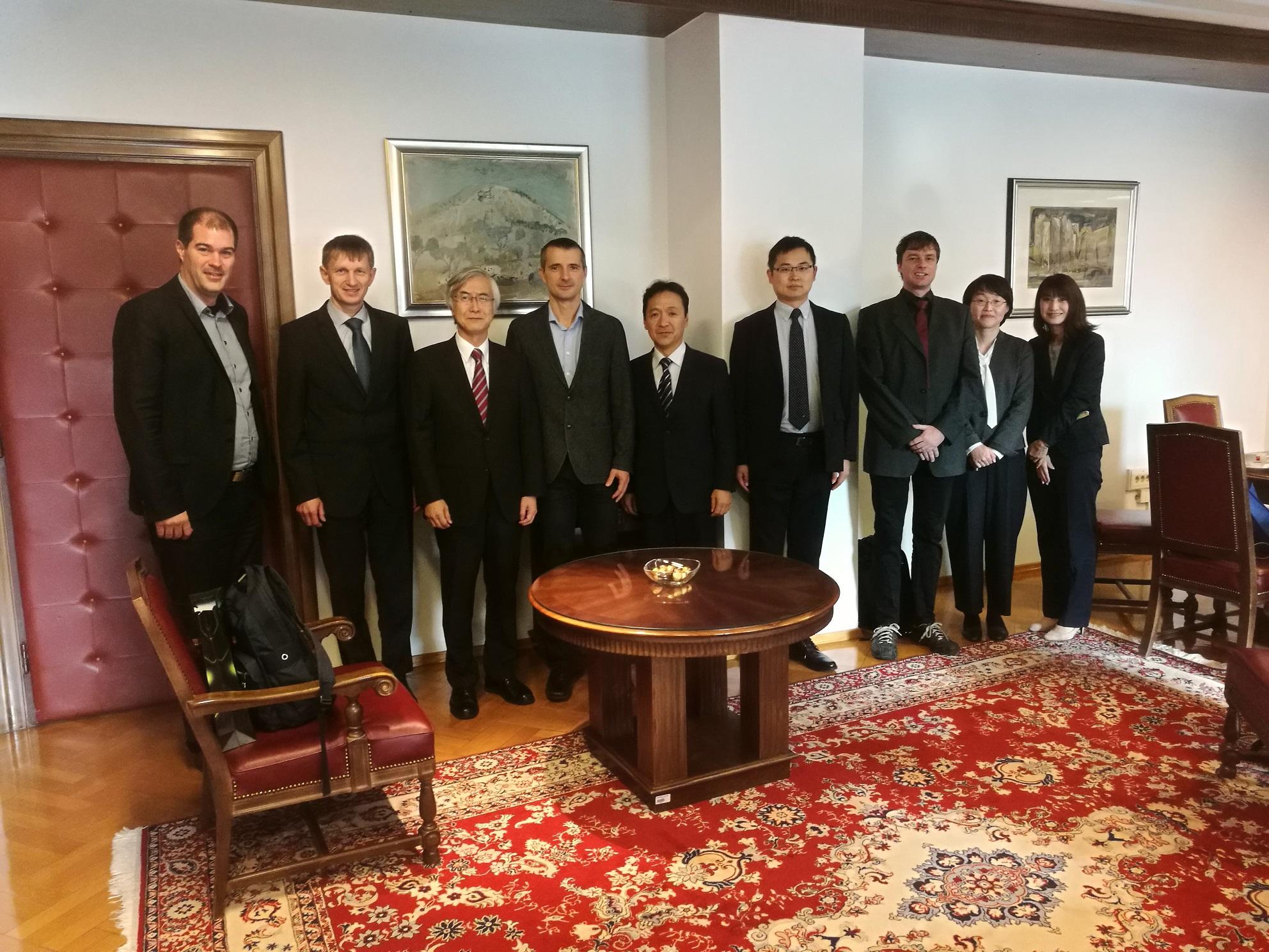Gostili smo Rektorja Kyutech Univerze z Japonske.