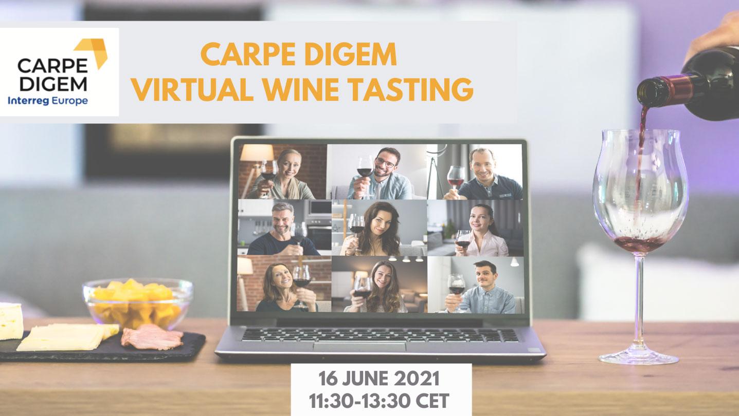 Virtualna degustacija vin v okviru Interreg projekta Carpe Digem